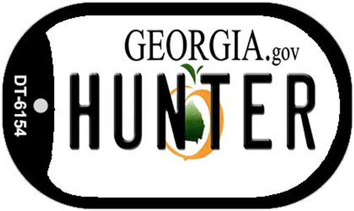 Hunter Georgia Novelty Metal Dog Tag Necklace DT-6154