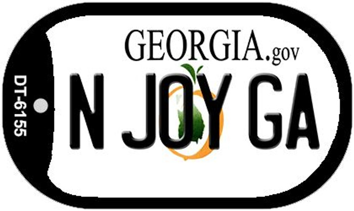 N Joy GA Georgia Novelty Metal Dog Tag Necklace DT-6155