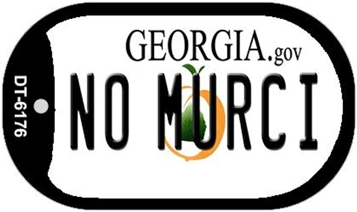 No Murci Georgia Novelty Metal Dog Tag Necklace DT-6176