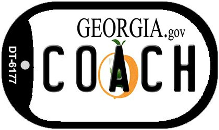 Coach Georgia Novelty Metal Dog Tag Necklace DT-6177