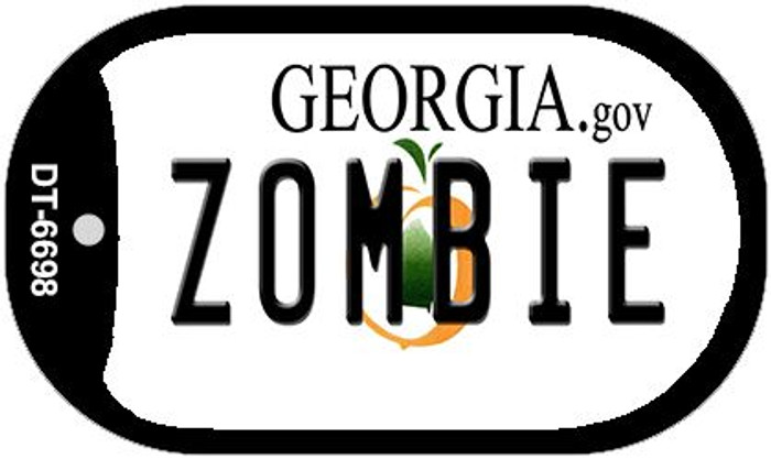 Zombie Georgia Novelty Metal Dog Tag Necklace DT-6698