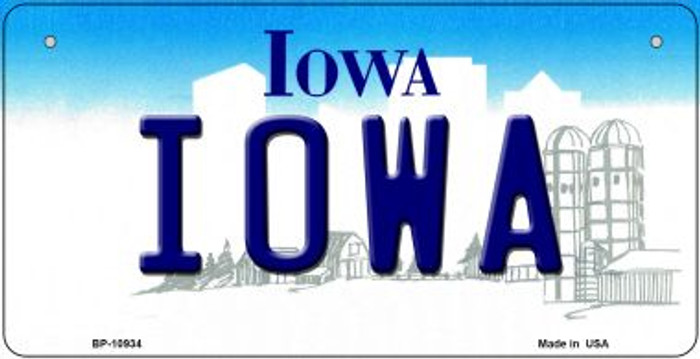 Iowa Novelty Metal Bicycle Plate BP-10934