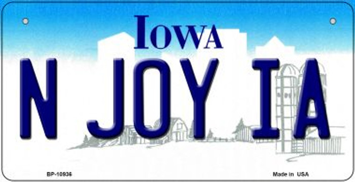 N Joy IA Iowa Novelty Metal Bicycle Plate BP-10936