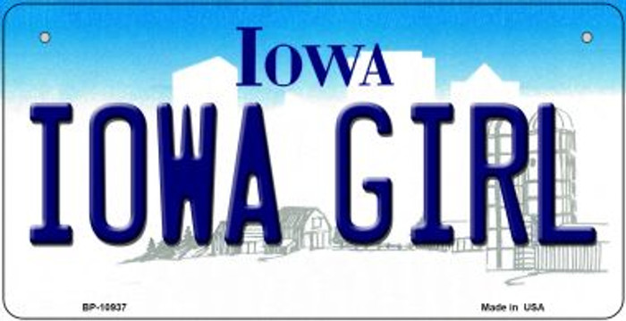 Iowa Girl Iowa Novelty Metal Bicycle Plate BP-10937