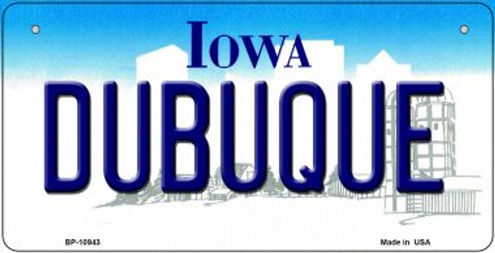 Dubuque Iowa Novelty Metal Bicycle Plate BP-10943