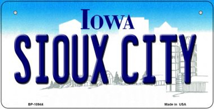 Sioux City Iowa Novelty Metal Bicycle Plate BP-10944