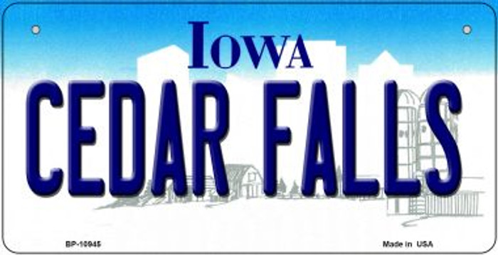 Cedar Falls Iowa Novelty Metal Bicycle Plate BP-10945