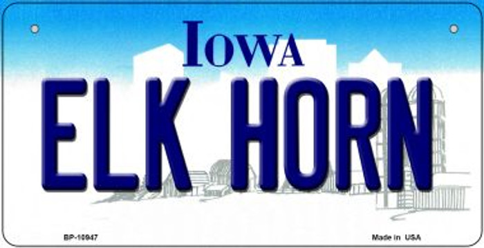 Elk Horn Iowa Novelty Metal Bicycle Plate BP-10947