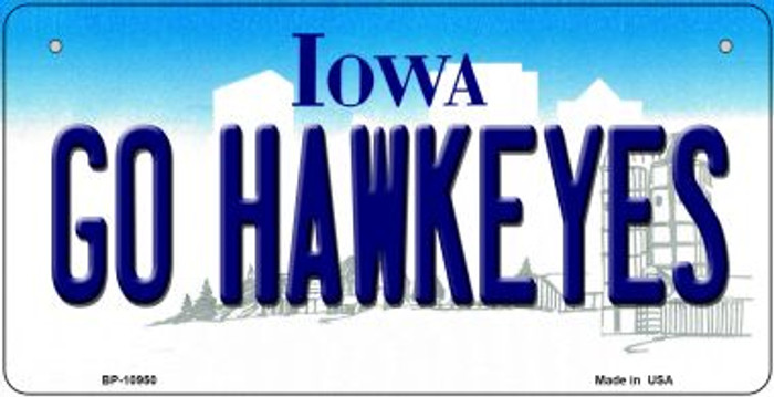 Go Hawkeyes Iowa Novelty Metal Bicycle Plate BP-10950