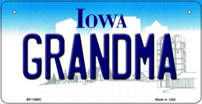 Grandma Iowa Novelty Metal Bicycle Plate BP-10953