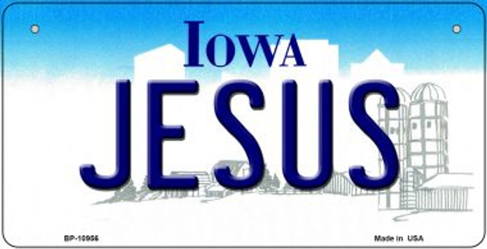 Jesus Iowa Novelty Metal Bicycle Plate BP-10956