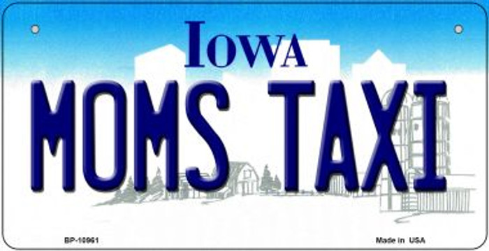 Moms Taxi Iowa Novelty Metal Bicycle Plate BP-10961