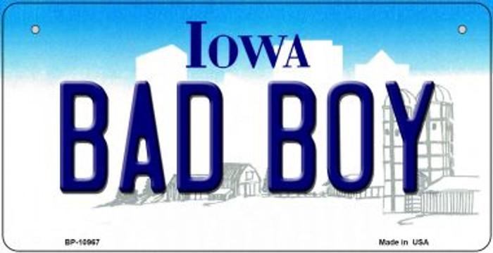 Bad Boy Iowa Novelty Metal Bicycle Plate BP-10967