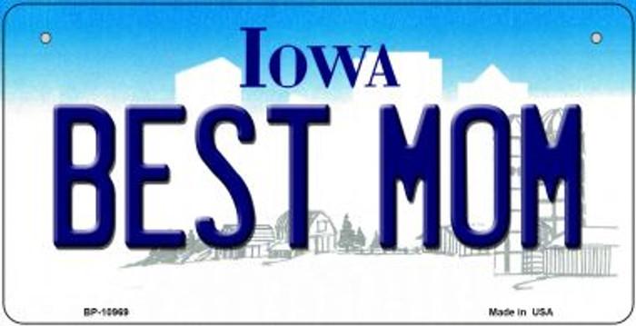Best Mom Iowa Novelty Metal Bicycle Plate BP-10969