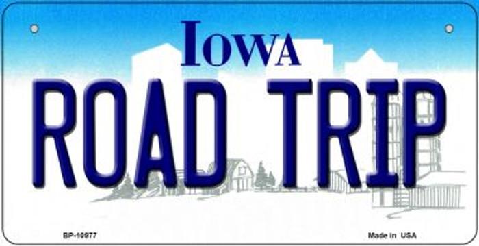 Road Trip Iowa Novelty Metal Bicycle Plate BP-10977