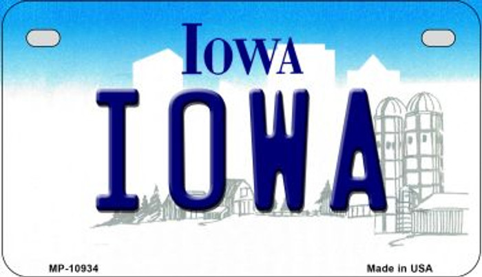 Iowa Novelty Metal Motorcycle Plate MP-10934