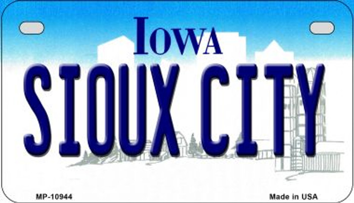 Sioux City Iowa Novelty Metal Motorcycle Plate MP-10944