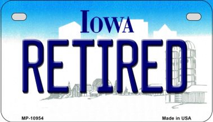 Retired Iowa Novelty Metal Motorcycle Plate MP-10954