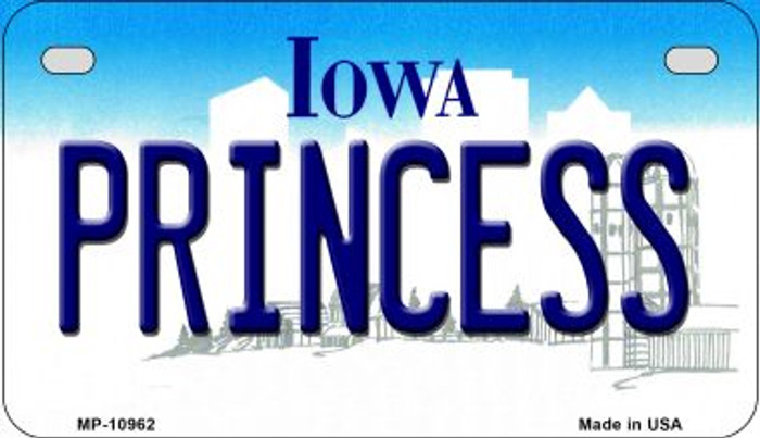Princess Iowa Novelty Metal Motorcycle Plate MP-10962
