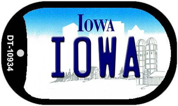 Iowa Novelty Metal Dog Tag Necklace DT-10934