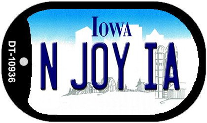 N Joy IA Iowa Novelty Metal Dog Tag Necklace DT-10936