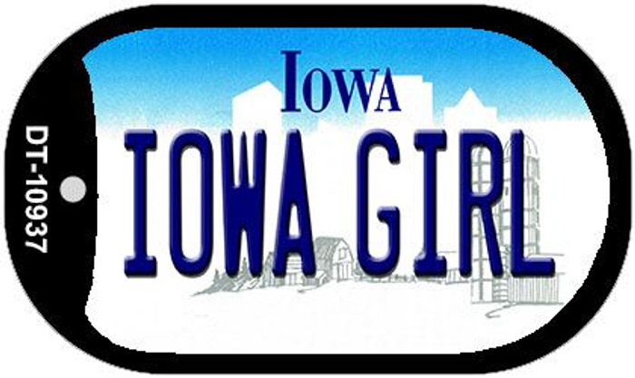 Iowa Girl Iowa Novelty Metal Dog Tag Necklace DT-10937