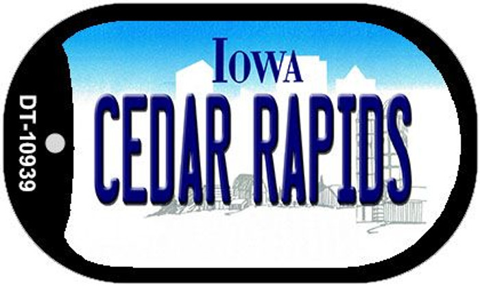 Cedar Rapids Iowa Novelty Metal Dog Tag Necklace DT-10939