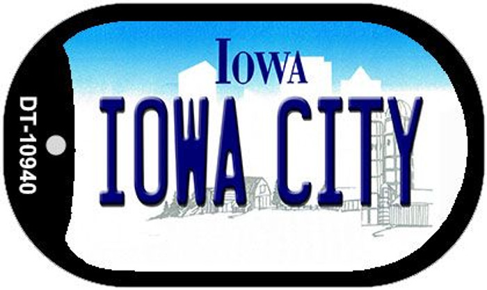 Iowa City Iowa Novelty Metal Dog Tag Necklace DT-10940
