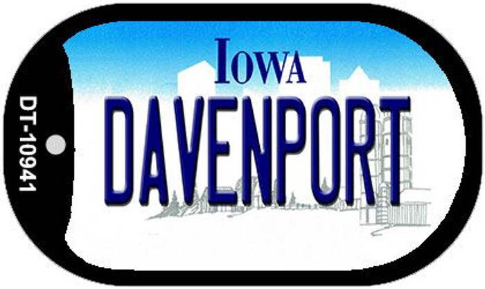 Davenport Iowa Novelty Metal Dog Tag Necklace DT-10941