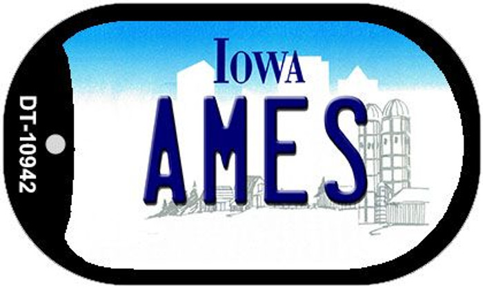 Ames Iowa Novelty Metal Dog Tag Necklace DT-10942