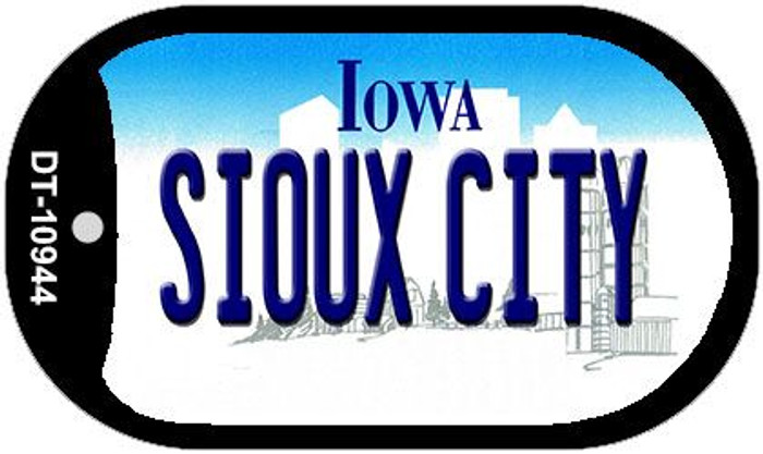 Sioux City Iowa Novelty Metal Dog Tag Necklace DT-10944