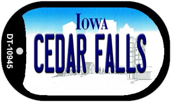 Cedar Falls Iowa Novelty Metal Dog Tag Necklace DT-10945