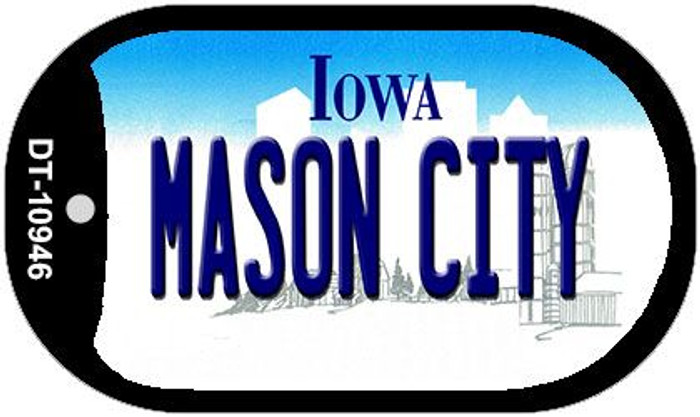 Mason City Iowa Novelty Metal Dog Tag Necklace DT-10946