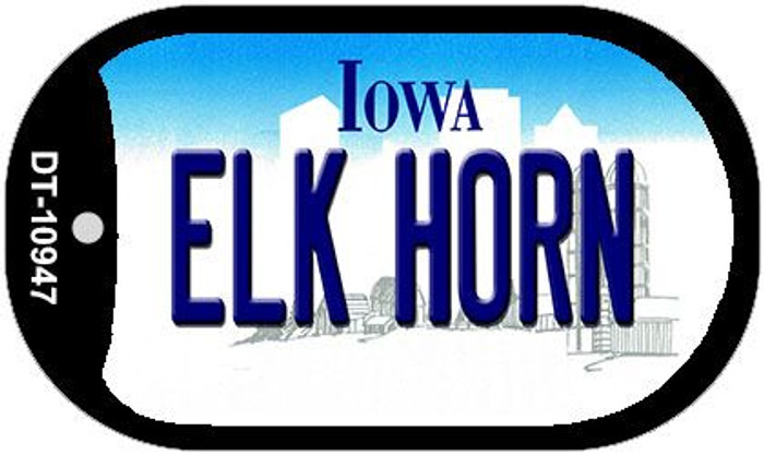 Elk Horn Iowa Novelty Metal Dog Tag Necklace DT-10947