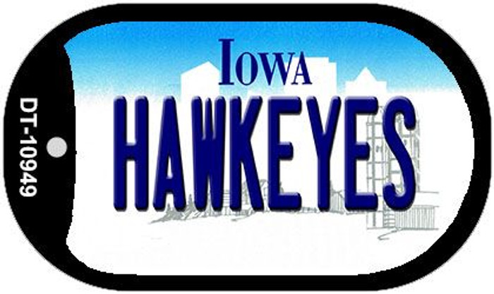 Hawkeyes Iowa Novelty Metal Dog Tag Necklace DT-10949