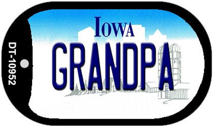 Grandpa Iowa Novelty Metal Dog Tag Necklace DT-10952