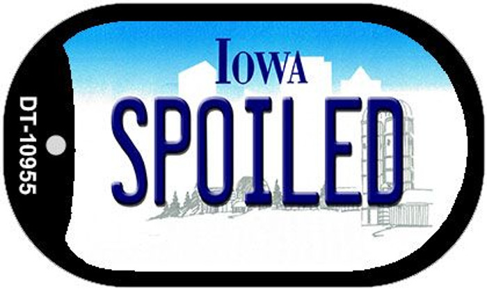 Spoiled Iowa Novelty Metal Dog Tag Necklace DT-10955
