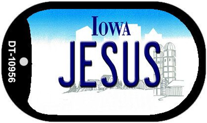 Jesus Iowa Novelty Metal Dog Tag Necklace DT-10956
