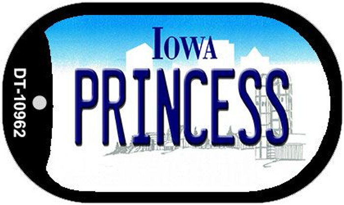 Princess Iowa Novelty Metal Dog Tag Necklace DT-10962