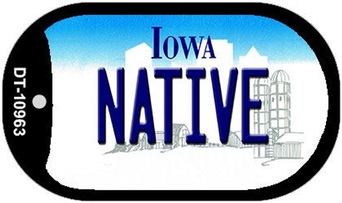 Native Iowa Novelty Metal Dog Tag Necklace DT-10963
