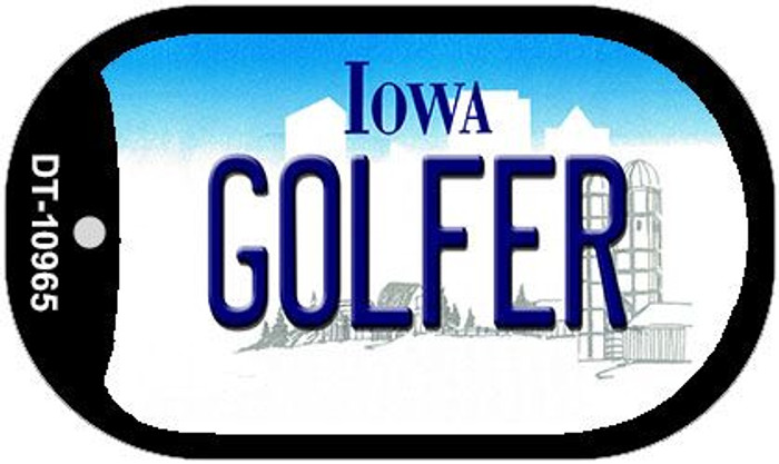 Golfer Iowa Novelty Metal Dog Tag Necklace DT-10965