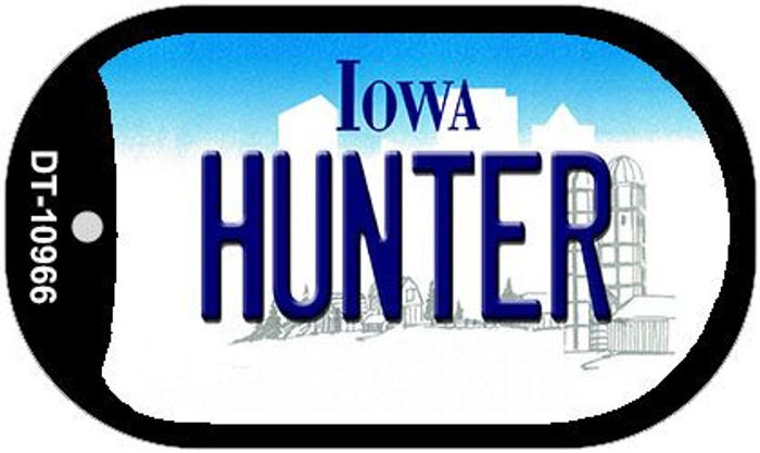 Hunter Iowa Novelty Metal Dog Tag Necklace DT-10966