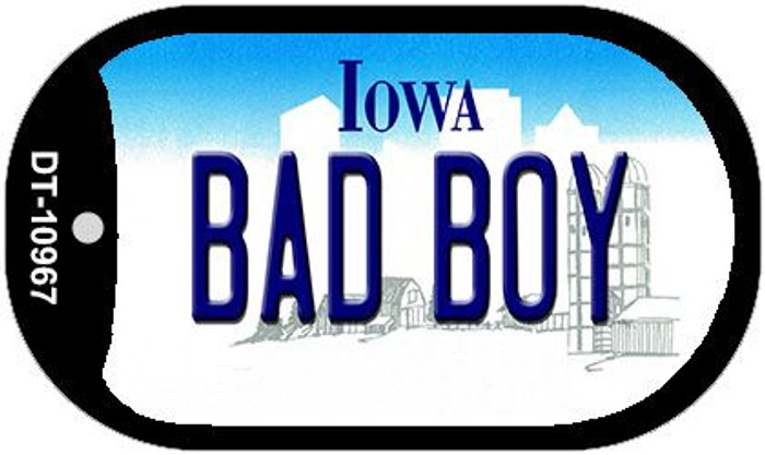 Bad Boy Iowa Novelty Metal Dog Tag Necklace DT-10967
