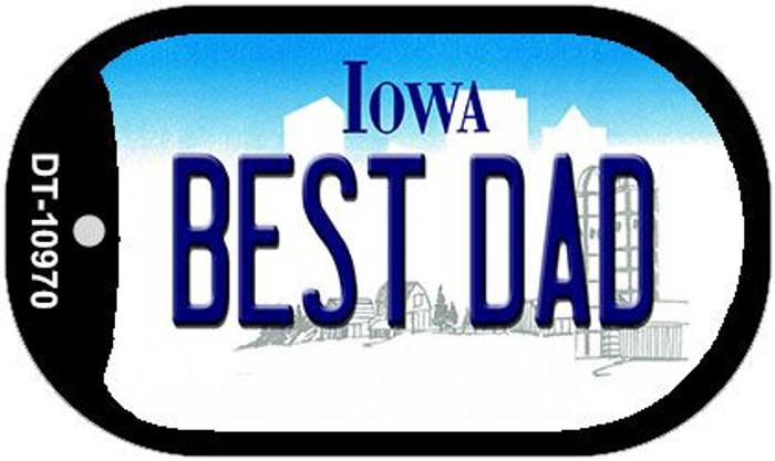 Best Dad Iowa Novelty Metal Dog Tag Necklace DT-10970