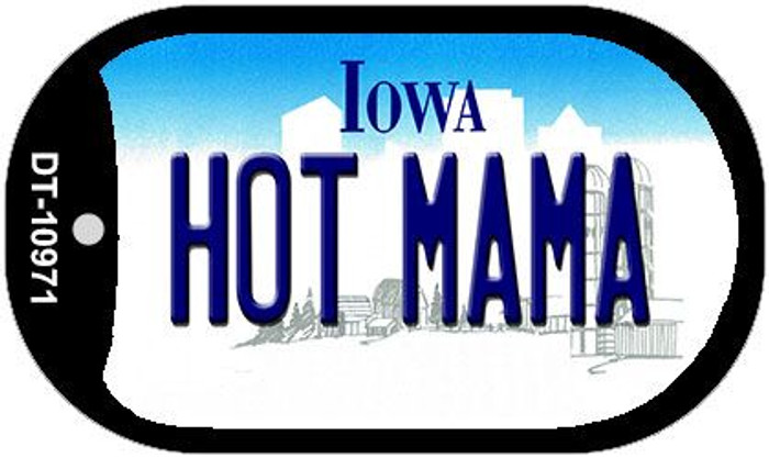 Hot Mama Iowa Novelty Metal Dog Tag Necklace DT-10971