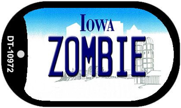 Zombie Iowa Novelty Metal Dog Tag Necklace DT-10972