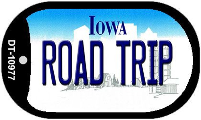 Road Trip Iowa Novelty Metal Dog Tag Necklace DT-10977