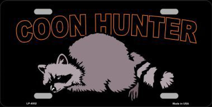 Coon Hunter Metal Novelty License Plate LP-4052