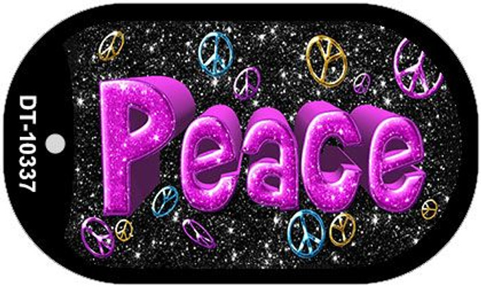 Peace Novelty Metal Dog Tag Necklace DT-10337