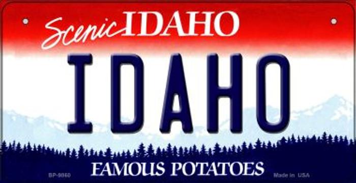 Idaho Novelty Metal Bicycle Plate BP-9860